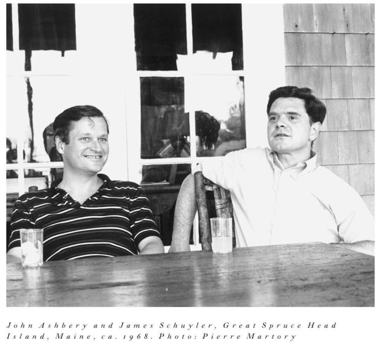 John Ashbery and James Schuyler, Great Spruce Head Island; photo by Pierre Martory