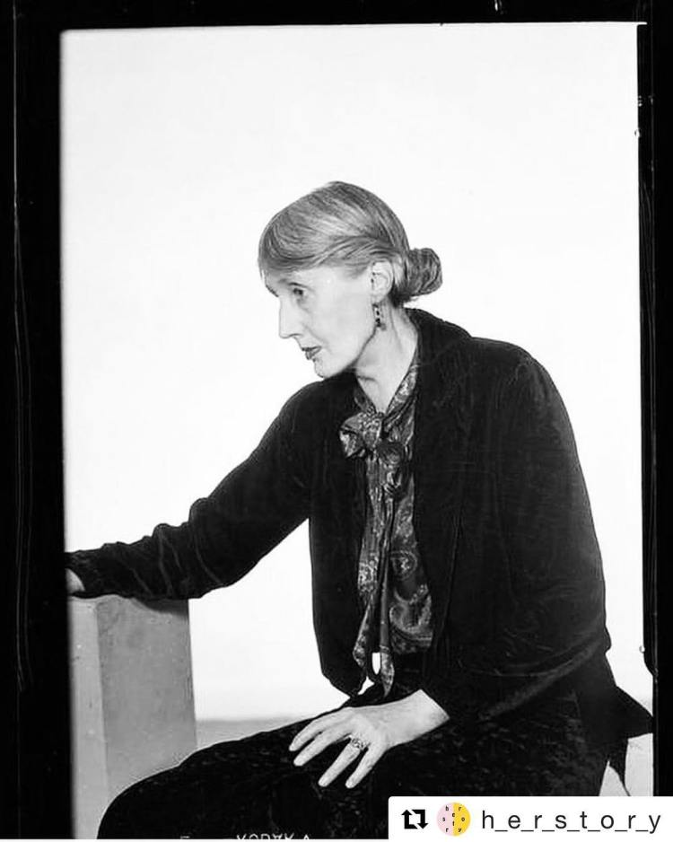 "@h_e_r_s_t_o_r_y with @get_repost ・・・ VIRIGINA WOOLF. 1935. Photo: Man Ray. ""If you do not tell the truth about yourself you cannot tell it about other people."" Woolf birthday is today, 136 years ago"