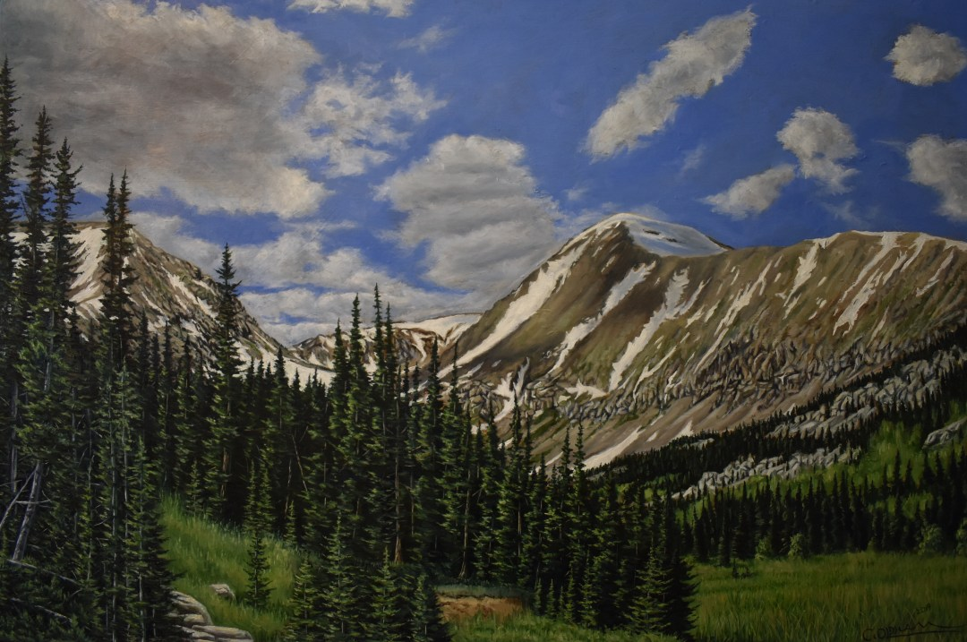 Oil painting of Colorado's Mt. Quandary by Cody Oldham