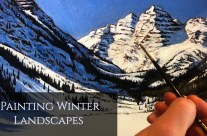 How to Paint a Winter Landscape in Oils