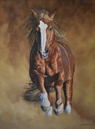 """""""Horsepower"""" 30"""" x 40"""" oil on canvas"""