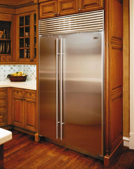 sub zero fridge stainless steel doors image  Codys