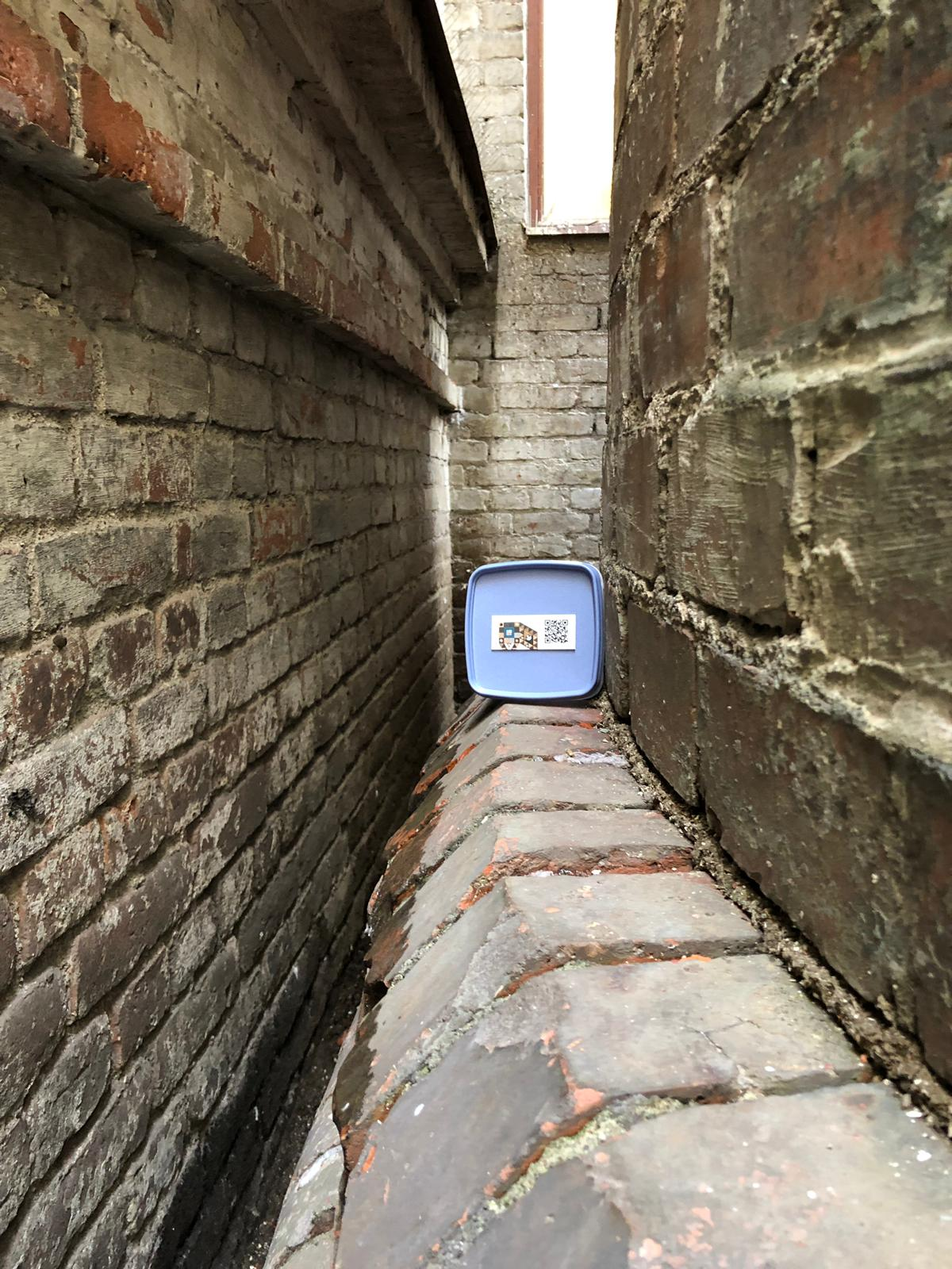 One of the four geocaches hidden in Finlayson art area