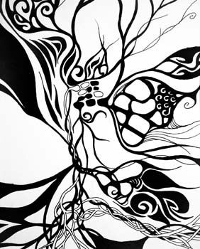 Intentions by Mariah Bisson - Pen & Ink on Paper