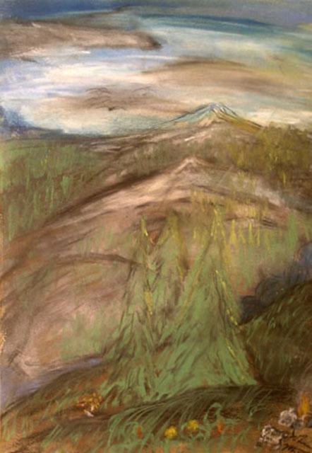 Untitled by John Mott - Pastel on Paper