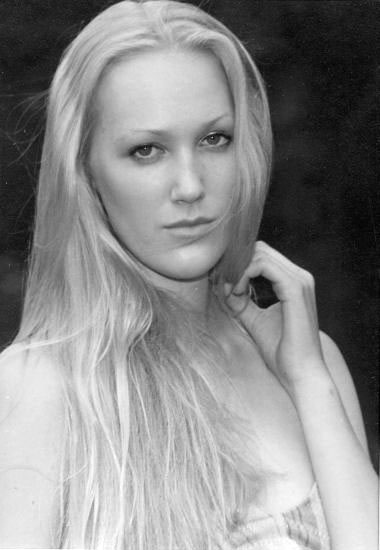 Sarah Patrick: Portrait of a Teenage Model by Marsha Harrington - B & W Photograph