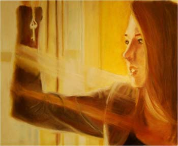 Under Lock and Key by Sarah Fenerty - Pastel on Paper