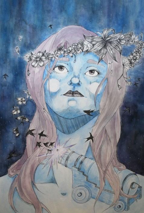 Laugh at the Beautiful by Sarah Turmel - Ink and Watercolor
