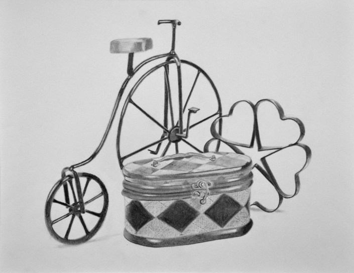 Honorable Mention: Vintage Vibes, by Emelia Cronshaw - Pencil on Paper (Drawing - Mr. Unrein)