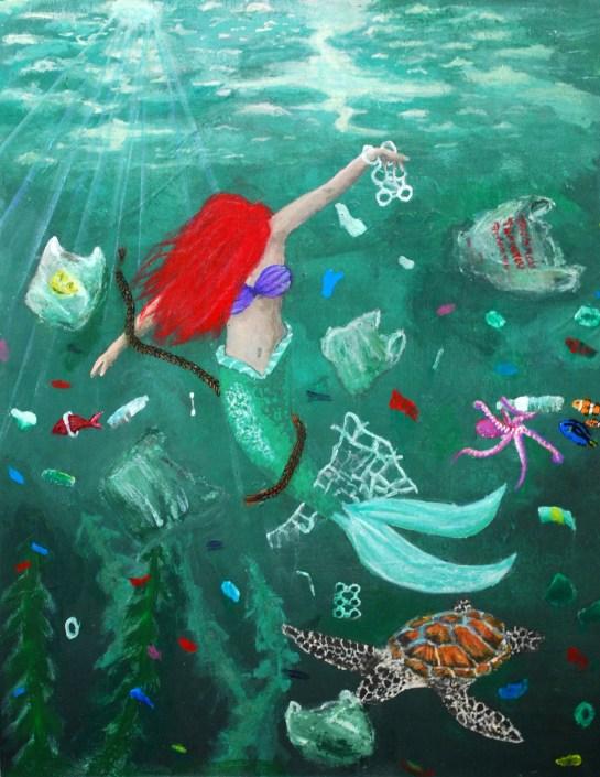 crylic on Canvas Board 14 x 18