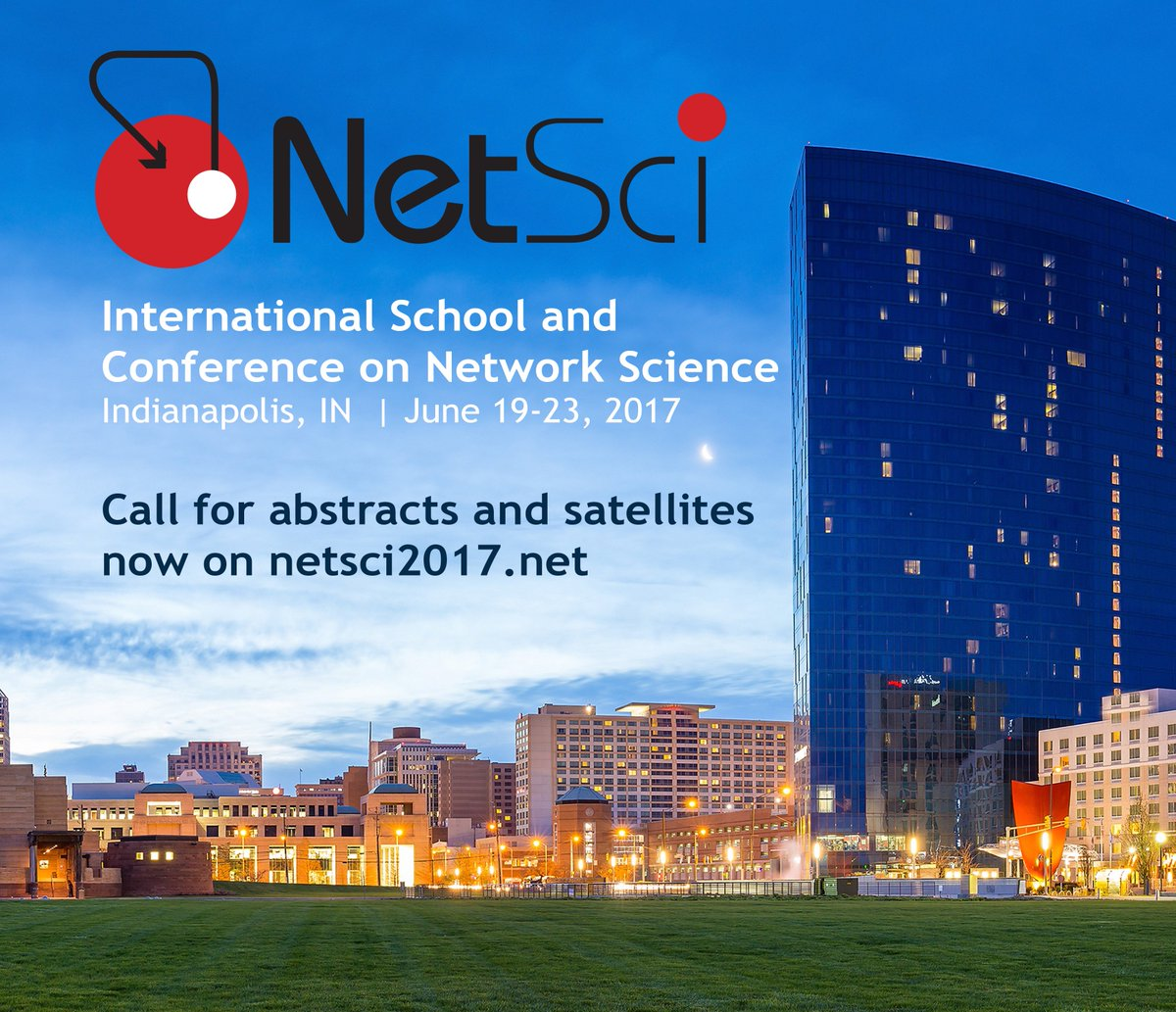 Get ready for NetSci 2017 in Indianapolis, Indiana