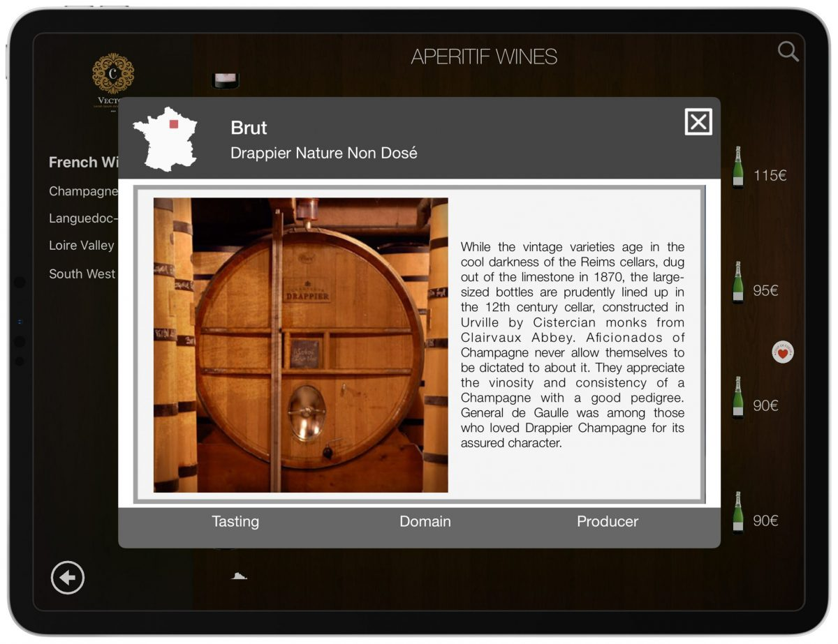 Wine Producer Image Wine List iPad