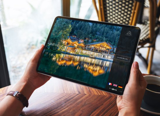 Carte vins iPad tablette full screen