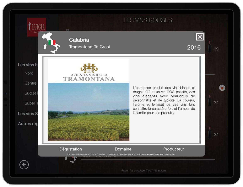 Wine domain description and photo