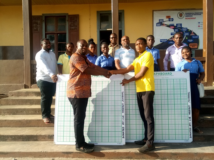 CoE Weekly Journal Donates Graph Boards To E. P College Of Education, Amedzofe