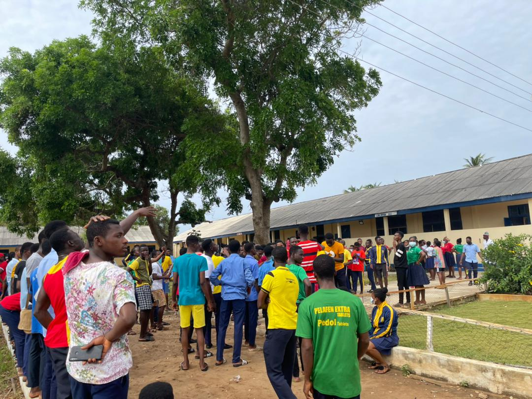 Students of Ada College of Education demonstrate over unfair treatment, lack of water