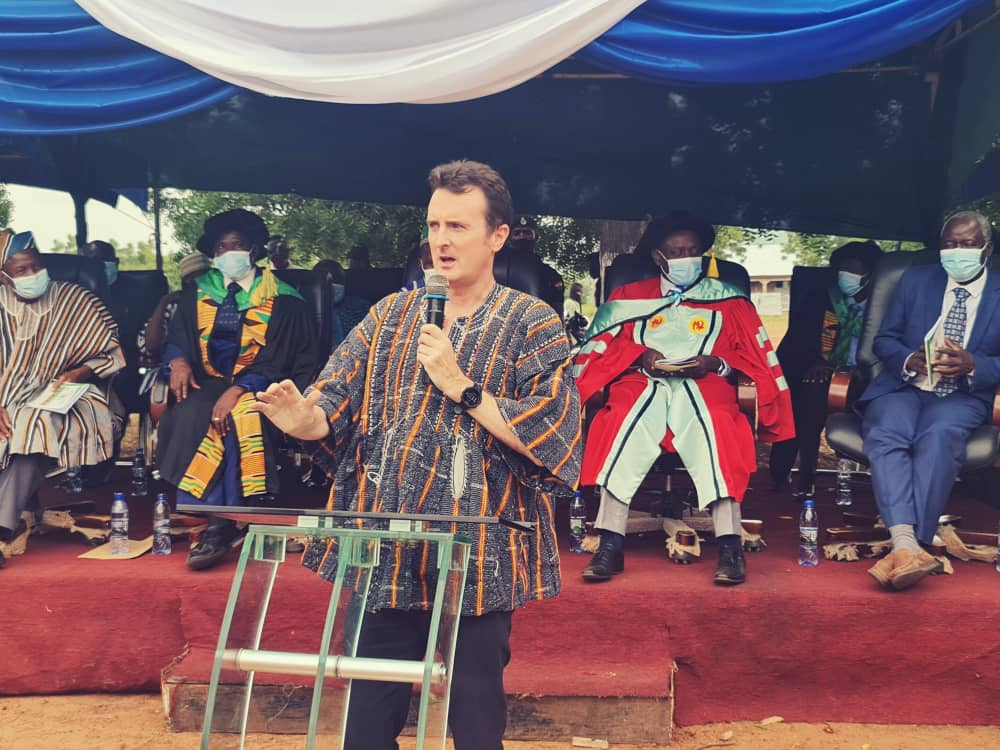 Robin Todd addresses Graduands in Mampruli at 2nd Congregation of Gambaga College of Education