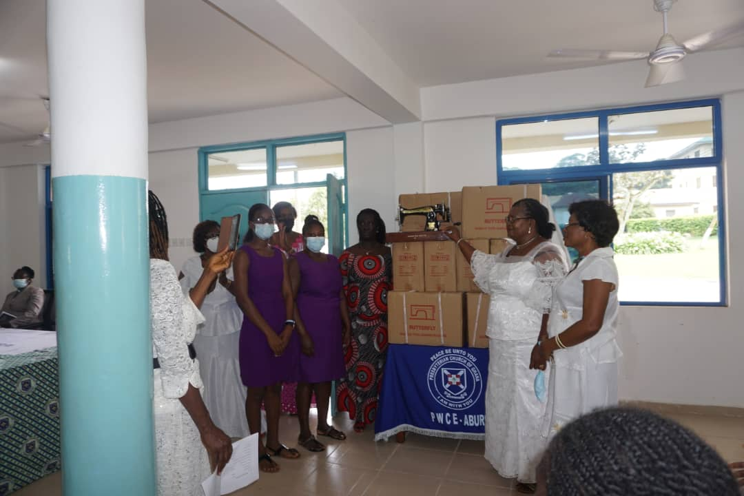 APOWA 1981 Year Group donates 26 Butterfly Sewing Machines to Presbyterian Women's College of Education, Aburi