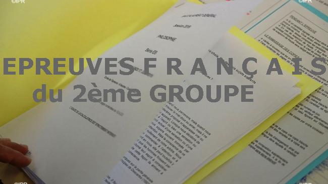 DES EPREUVES F R A N Ç A I S  du 2ème GROUPE A TELECHARGER GRATUITEMENT EN (PDF)