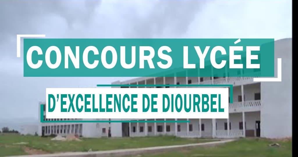 Concours d'entrée en classe de Second au Lycée d'Excellence de Diourbel