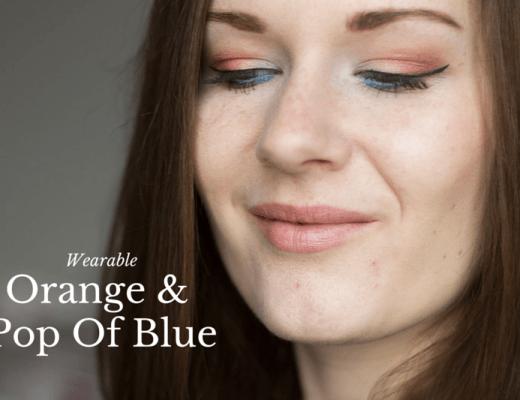 Wearable Orange & Pop Of Blue