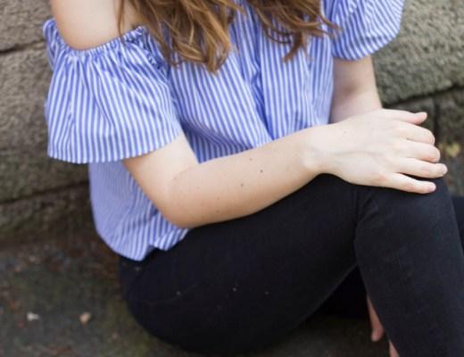 striped off shoulder titel - coeurdelisa