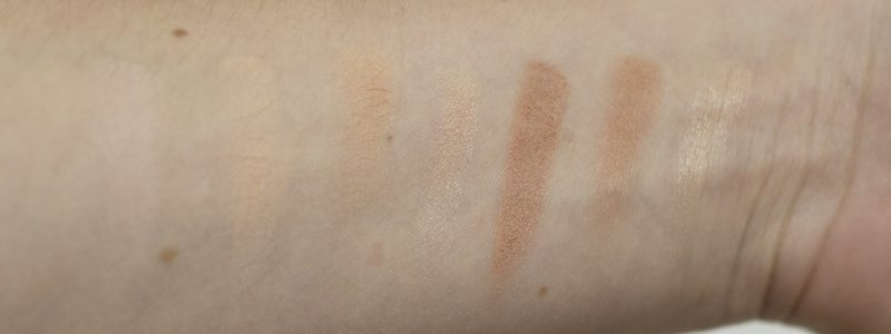 Morphe Color Warm Palette Swatches Reihe 1 - coeurdelisa