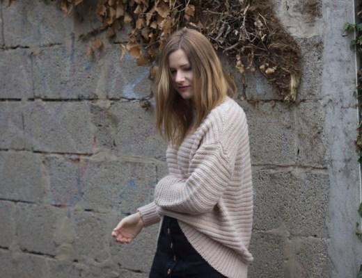 Outfit Strick und Overknee Strümpfe 1 - coeurdelisa