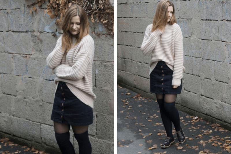 Outfit Strick und Overknee Strümpfe 4 - coeurdelisa