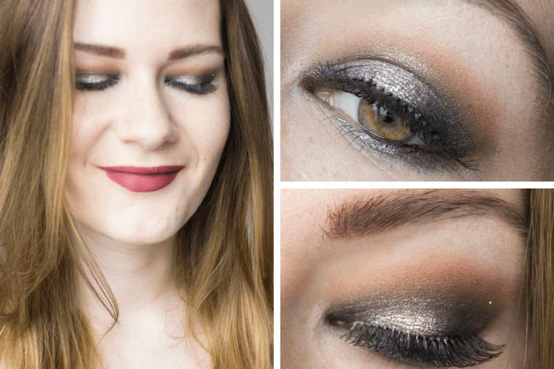 Silver Halo Smokey Eye Collage
