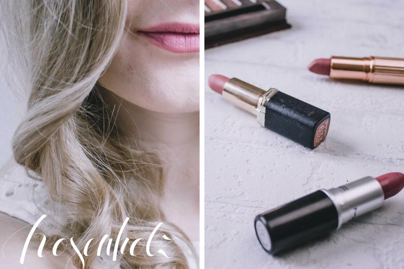 Nude Lippenstifte Rosenholztöne