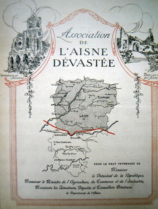 Association de l'Aisne dévastée