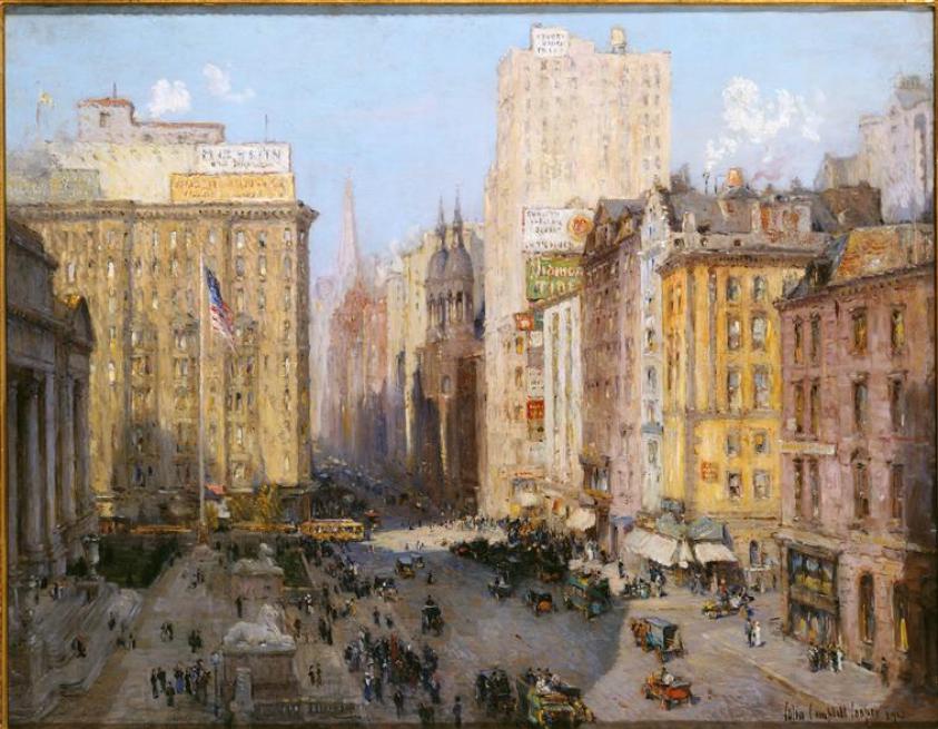 C.CAMPBELL-COOPER-Fifth-avenue-New-York-1913-RMN-GP