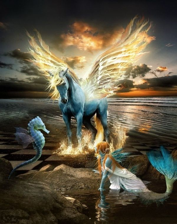 Fairies Mermaids Unicorn Art