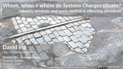 Whom, when + where do Systems Changes situated?
