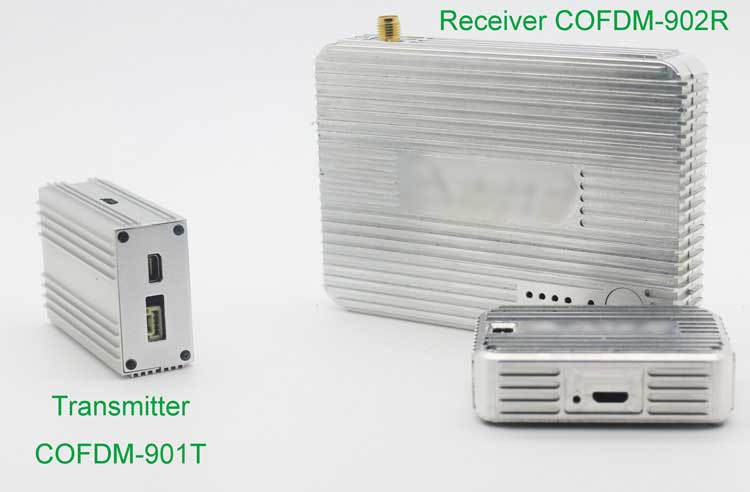 cofdm transmitter wireless video modulator uav transmission hdmi nols module receiver