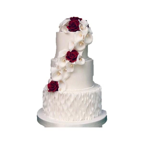 tort nunta flori trandafir andros cofetarie