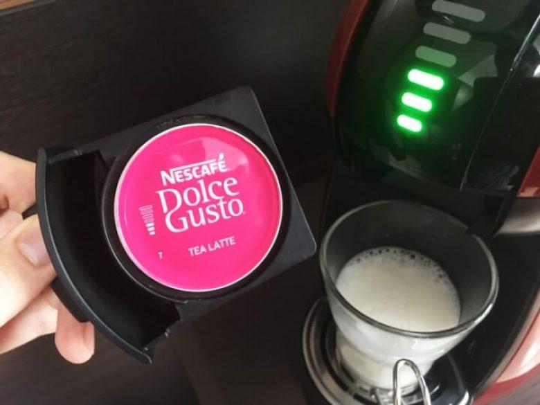 紅茶カプセルをセット