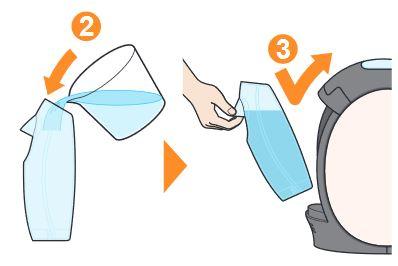 湯垢洗浄剤を溶かしてセット