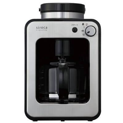 シロカ 全自動コーヒーメーカー ガラスサーバー