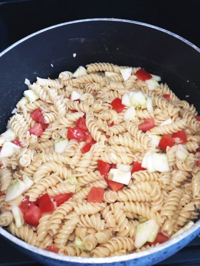Easy Pasta Salad Cooked