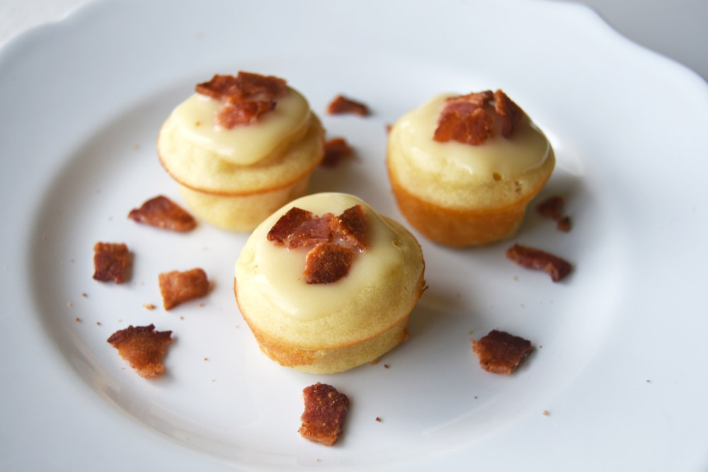 Maple Pancake Bites with Bacon