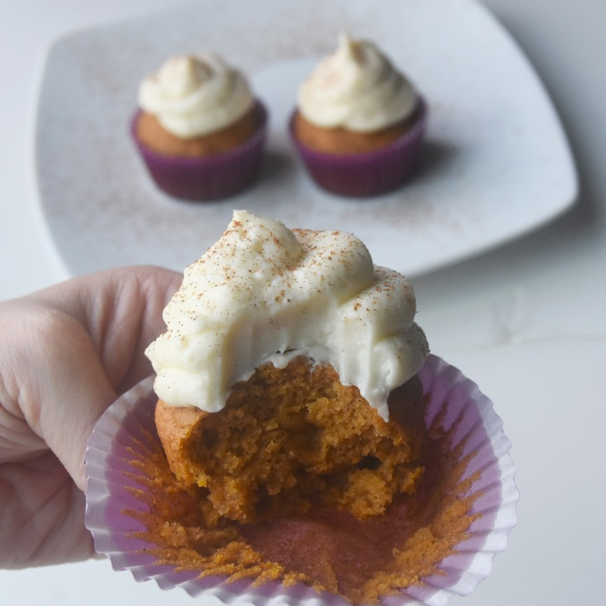 Pumpkin Cupcakes with Cream Cheese Icing
