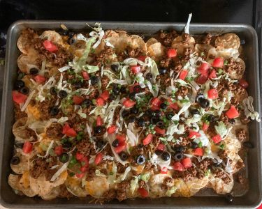 nachos on sheet pan