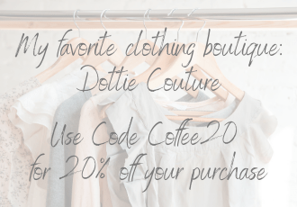favorite boutique dottie couture code coffee20 for 20% off