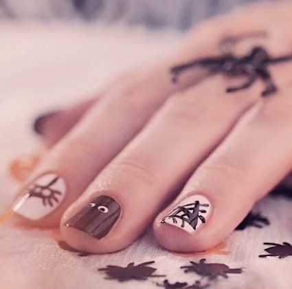 nail tutorial für Halloween
