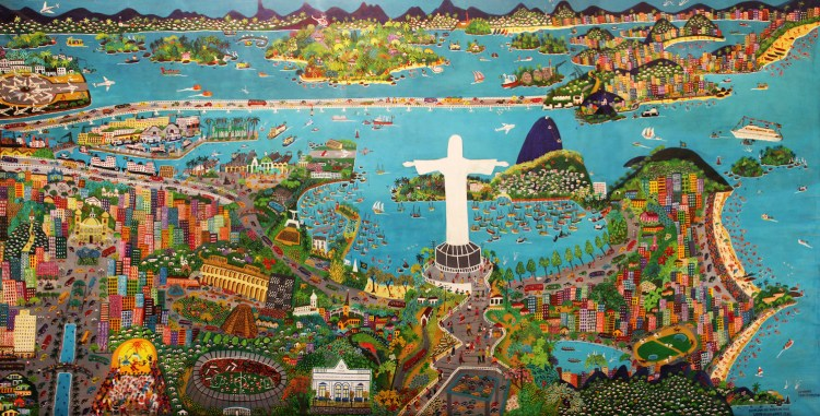 'Rio de janeiro gosto de voce - gosto dessa gente feliz' by Lia Mittarakis, on during the Rio2016 Olympics
