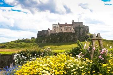 Lindesfarne castle, Holy Island, Northumberland. July 2016