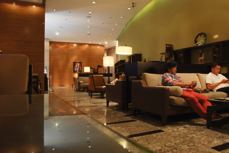 Manila Marriott lounge area