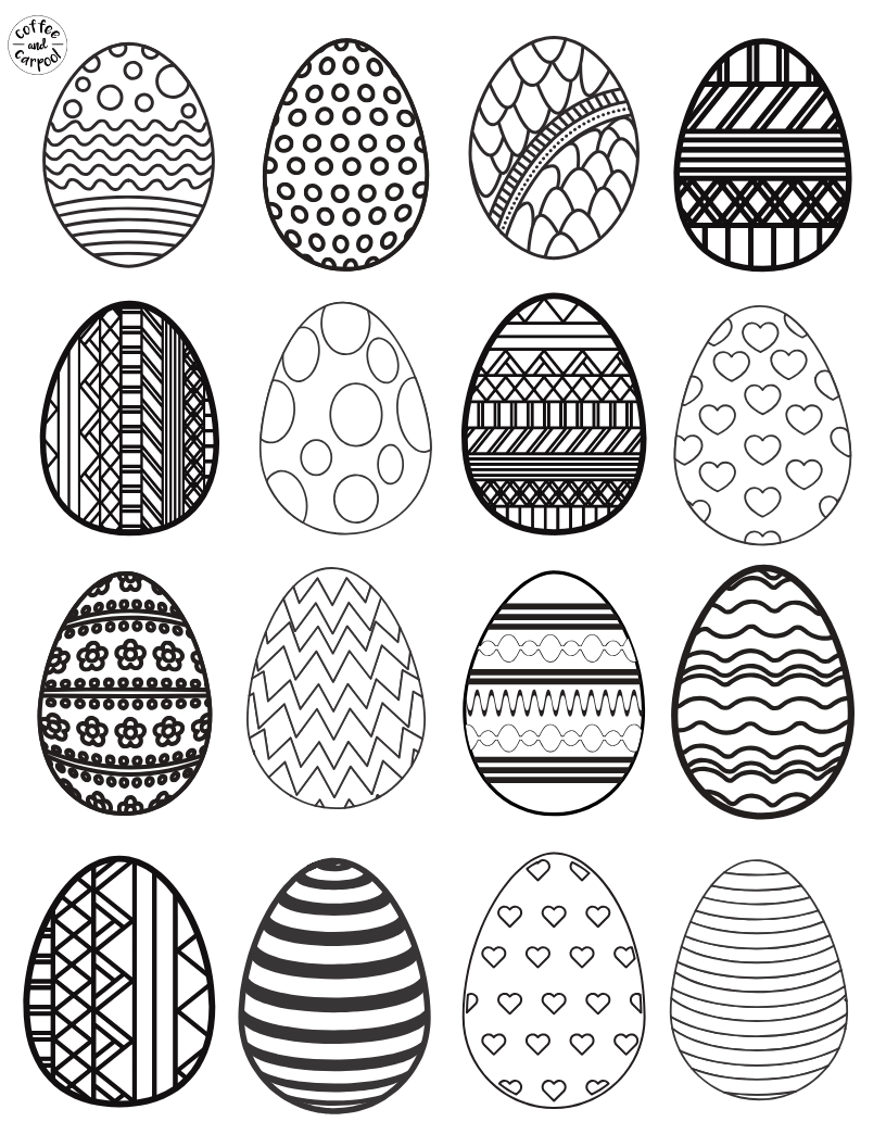 Easter Egg Printables Coffee And Carpool Intentionally Raising Kind Kids